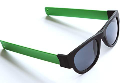 Slap-On - Gafas de sol unisex plegables y enrollables para deporte, verde