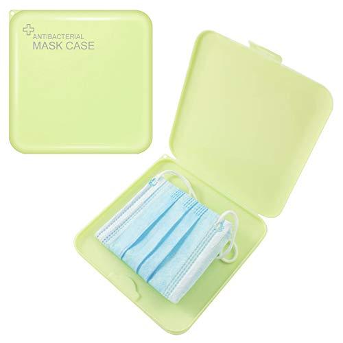 TBOC Custodia per Mascherine - Scatola Quadrata Sottile Antibatterica in Plastica Rigida [Verde] Portaoggetti per Maschere Organizzatore Portatile Leggero e Riutilizzabile Proteggere Polvere Sporco