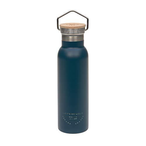 LÄSSIG isolierte Edelstahlflasche BPA-frei Doppelwandig Adventure Outdoor 460 ml blue