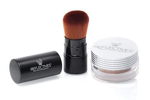 REFLECTIVES Minerale Make Up Set/Foundation Make Up/Polvere Minerale/Pennello Kabuki nel Set (neutro - leggermente brunito)
