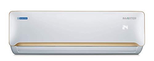Blue Star 1.5 Ton 5 Star Inverter Split AC (Copper, IC518QBTU, White + Champagne Gold) Brand: Blue Star