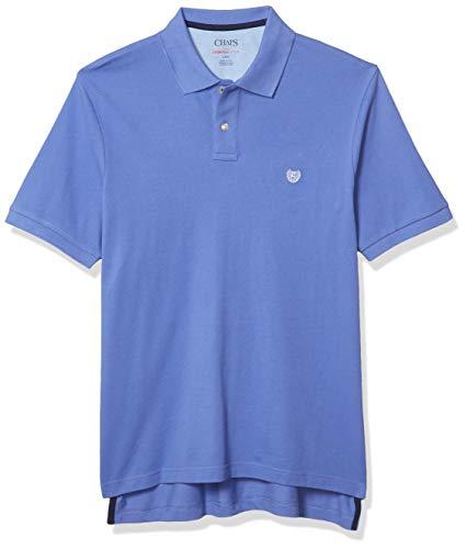 Chaps Men's Classic Fit Cotton Mesh Everyday Polo Shirt, Baja Blue, XXL