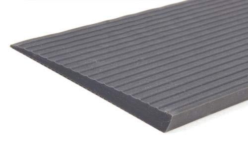 hablicare® Schwellenrampe Gummi mit Klebefläche auf Unterseite, Rampe für Türschwellen, grau, Türschwellenrampe, Schwellenhöhe: 0,6 cm (6 x 60 x 900 mm)