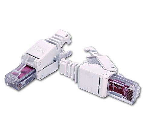 CyberTech RJ45 CAT6 5e Tool-Less Modular Connectors Plugs