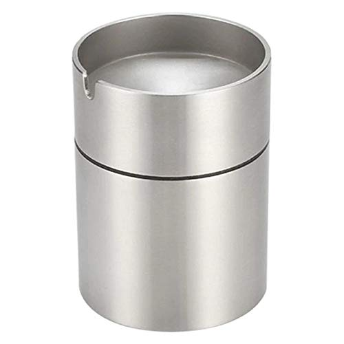 Brilliant Classy and Luxurious Design Stainless Steel Car Ashtray Smokeless Auto Cigarette Ashtray Ash Holder Creative Windproof Business Gift Car Car with Lid Ashtra Best CAR Ashtray