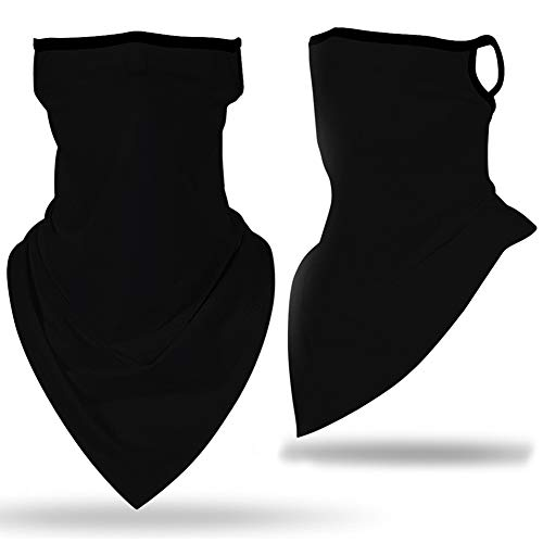 Men Women Seamless Face Mask Scarf Bandana Ear Loops Face Neck Gaiters for Dust Mask