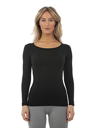 Thatso Women Thermal Underwear Christmas Graphic Winter Warm Fleece Lined Crewneck Undershirt Long Johns Shirts Blouse Top