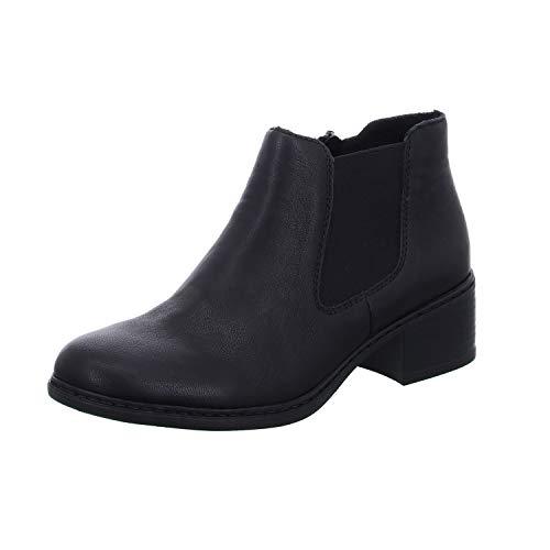 Rieker Damen 77688-00 Chelsea Boots, Schwarz (Schwarz/Schwarz 00), 39 EU