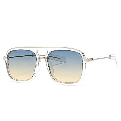 NBJSL Gafas de sol cuadradas unisex Marco grande Uv400 Gafas de sol protectoras Embalaje de regalo exquisito