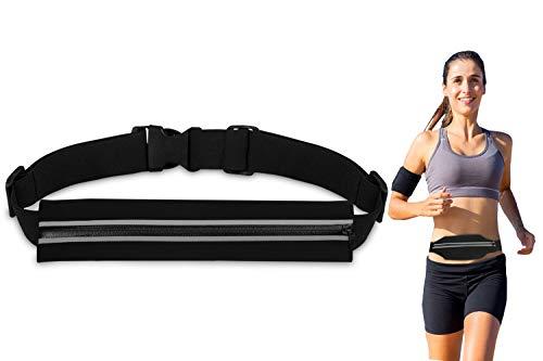 Bioasis Riñonera Deportiva, cinturón de Deporte, Mujer/Hombre, elástica, transporable y Impermeable, para el Correr, Aptitud, Ciclismo