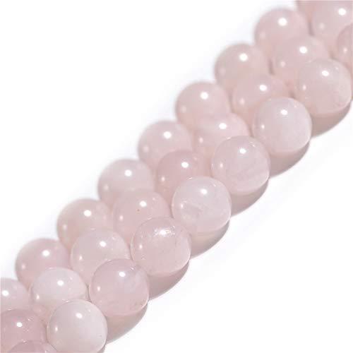 Natürlicher rosafarbener Rosenquarz-Kristall, Edelstein, Halbedelstein, rund, 6 mm, lose Perlen für Schmuckherstellung, Armband, Halskette, Handwerk, 38,1 cm