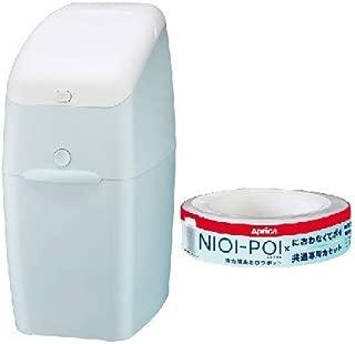 アップリカ (Aprica) 強力消臭 おむつ ごみ箱 ニオイポイ(NIOI-POI) ペールブルー カセット1個付 2022668