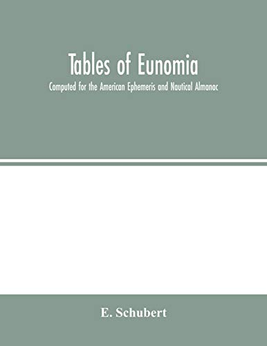 Tables of Eunomia; Computed for the American Ephemeris and Nautical Almanac