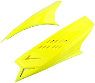 Leoie 1 Pair Punk Style Decorative Horns for Motorcycle Helmets Yellow