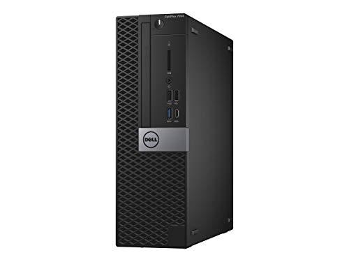 Dell OptiPlex 7050 SFF Desktop Black Intel Core i5 Processor Genuine Windows 10 Professional 12 Months Warranty (Core i5, 8GB RAM, 240GB SSD) (Renewed)
