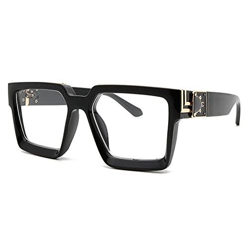 Gafas Deportivas Ladies Marco Grande Deporte A Prueba De Viento Fashion Fashion Fashion Hombres Y Mujeres Gafas De Sol Ciclismo Anti-Ultraviolet Sunglasses-Transparente