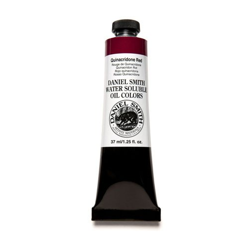 Daniel Smith 284390010 Water Soluble Oils Paint Tube, 37 ml, Quinacridone Red