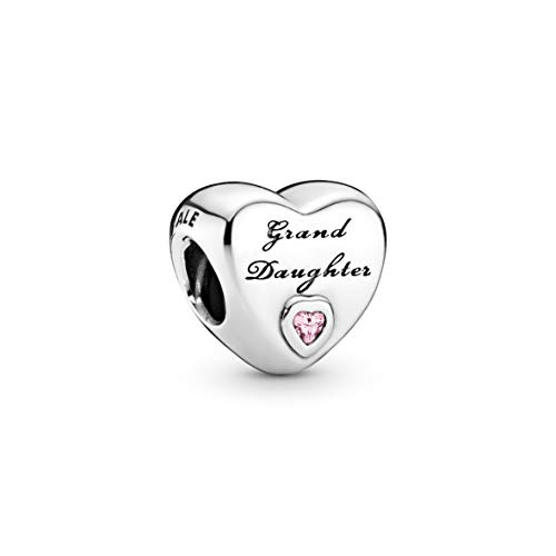 Pandora Moments Granddaughter Heart Charm Sterling Silver 796261PCZ