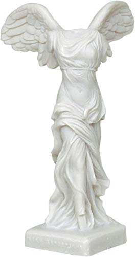 Hecho a mano La Antigua Grecia Griega de Samotracia (Estatua/Escultura de alabastro 19cm / 7.48 Pulgadas)
