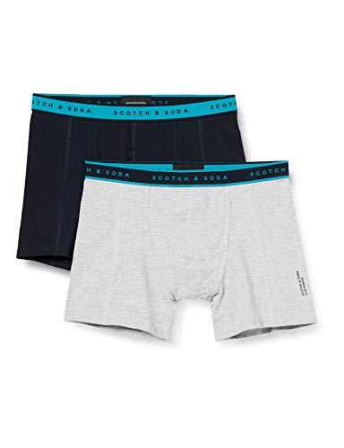 Scotch & Soda Mens Club Nomade 2 Pack Boxer Shorts, Combo A 0217, L