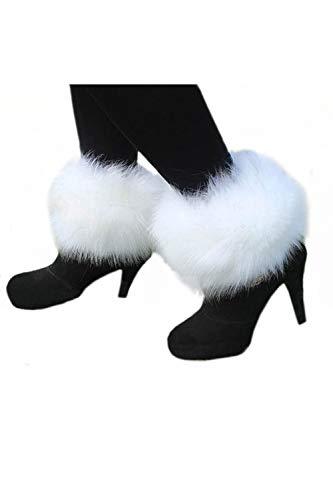 Zinmuwa Damen Faux Pelz Boot Handschellen Bein Wärme Winter Für Schneeweather Condition Stiefel Weiß One Size
