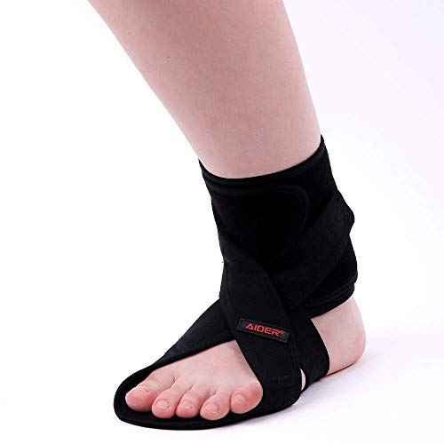 AIDER Dropfoot Braces Type 3  Foot stabilizer Worn with Shoes Prevent Inversion of feet Orthopedic Medical Equipment Lightweight Material with adhensive Velcro Improvement in gait Free Left
