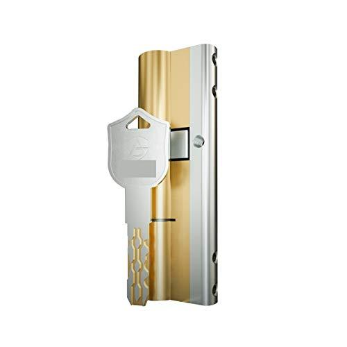 NGHSDO Bombin Cerradura con 10 Llaves de Bloqueo de Seguridad de la Puerta de Seguridad de la Puerta de la Puerta del Cilindro 5 (Color : A37.5 B52.5 L90mm)