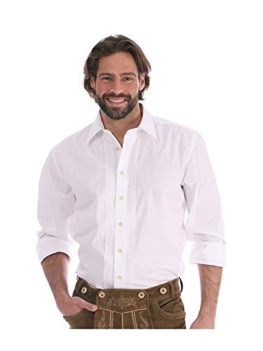 Almsach Trachtenhemd Klassiker Hemdkragen Ascan Weiss, XL