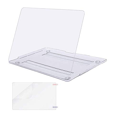 MOSISO MacBook Pro 13 inch Case 2020 2019 2018 2017 2016 Release A2338 M1 A2289 A2251 A2159 A1989 A1706 A1708, Plastic Hard Shell&Screen Protector Compatible with MacBook Pro 13 inch, Crystal Clear