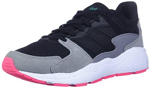 adidas Women's Chaos Sneaker, Black/Black/Real Pink, 7.5 M US