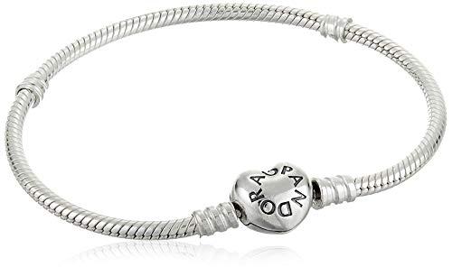 Pandora Moments Schlangen-Gliederarmband mit Herz-Verschluss