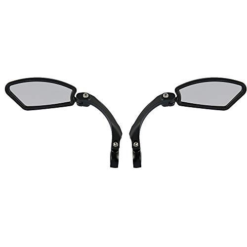 Specchietti Bici Ruotato di 360 ° Universale Specchio Retrovisore per Biciclette Scooter Mountain Bike MTB per Manubrio Diametro 22 mm (Sinistra e destra)