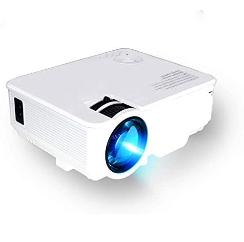 OKMJ Proyector portátil, proyector LED portátil con Pantalla Sincronizar para iOS Android, Full HD 1080P PROPORTE WiFi WiFi FOR Party Traveling Camping