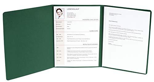 Exacompta 49703b candidature (3 pièces avec 2 rails et poche intérieure Capacité 30 feuilles en carton de lin de Manille, 400 g, nature future, DIN A4) Vert