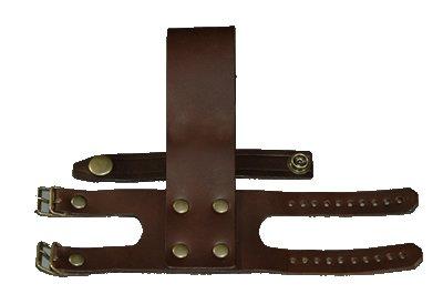 剣鉈木ケース 専用皮バンドベルト大 チョコ色 右利き用 band-005