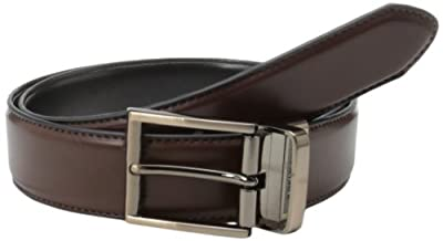 Kenneth Cole REACTION Men's Kenneth Cole Reaction Reversible Belt With Gunmetal Buckle,Brown/Black,38