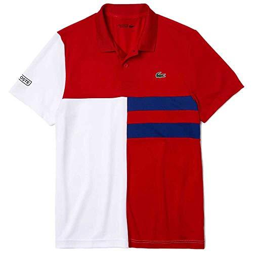 Lacoste DH2025 Camisa de Polo, Rouge/Blanc-cosmique-Noir, M para Hombre