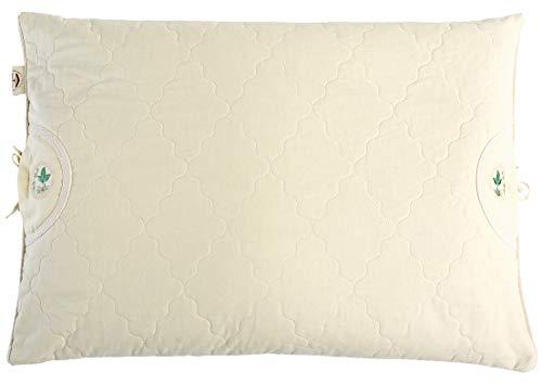 Sei Design Coussin pour Grains avec garnissage en Forme de Coquelicot Blanc 40 x 80 cm