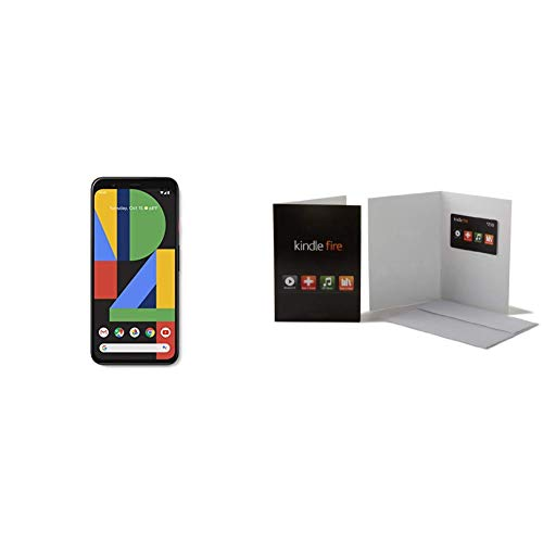 Google Pixel 4 - Just Black - 64GB - Unlocked with Amazon.com $200 Gift Card in a Greeting Card