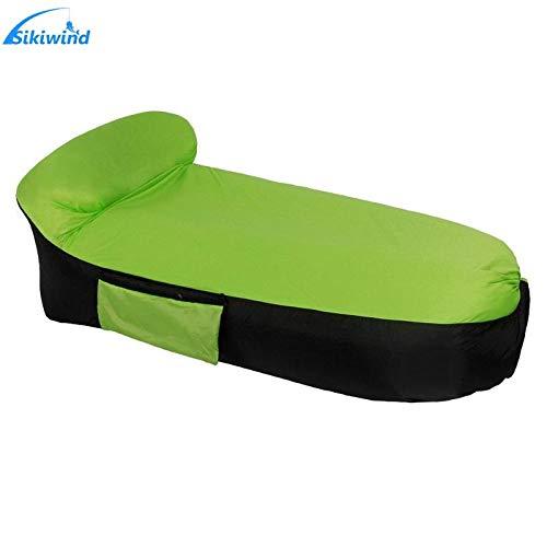 Bureze 250 x 85 cm al aire libre camping inflable sofá cama de aire de la playa fácil de llevar flojo bolsa de aire Transat sofá de salón silla