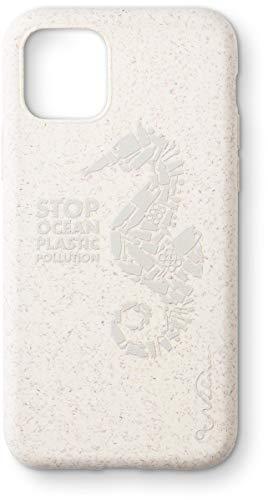 Wilma Umweltfreundliche, biologisch abbaubare Handy Schutzhülle - Passend für iPhone 11, Stop Meeres Plastik Verschmutzung, Kunststofffrei, Vollschutz Hülle - Matt Seepferdchen