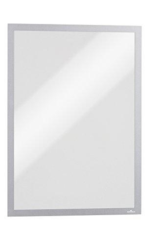 Durable 486823 Info-Rahmen Duraframe Magnetic (A3, Magnetrahmen für metallische Oberflächen) 5 Stück silber