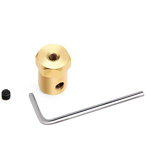 Sunshane 4 Pieces 7 mm Motor Flexible Coupling Coupler Connector for Car Wheels Tires Shaft