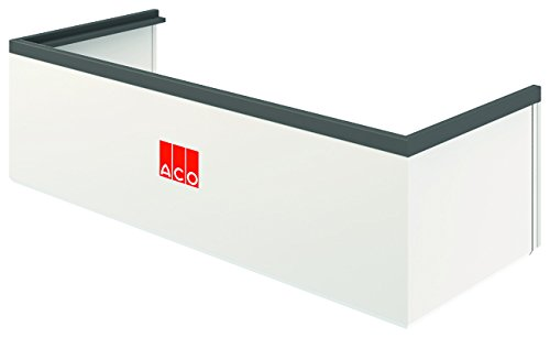 ACO Therm Lichtschacht-Aufsatz höhenverstellbar Aufstockelement INKLUSIVE Montageset 125 x 34 x 40 cm