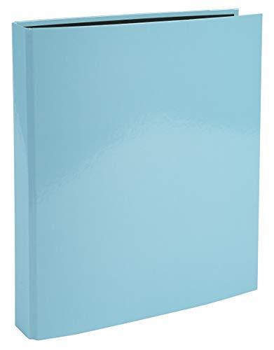 Exacompta 54568E Raccoglitori Aquarel 2 anelli da 2,5 cm dorso 4 cm copertina in cartone ricoperto di carta plastificata e interno nero formato A4 Blu pastello