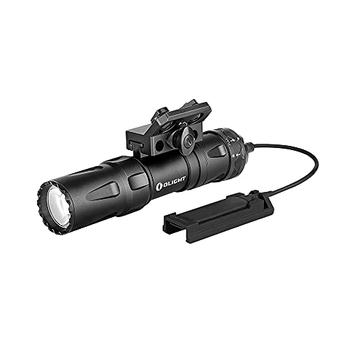 OLIGHT Odin Mini 1250 Lumens Ultra Compact Rechargeable Mlok Mount Tactical Flashlight, Removable Slide Rail Mount and Remote Switch, 18500 Battery 240 Meters Beam Distance, Mlok Included, Black