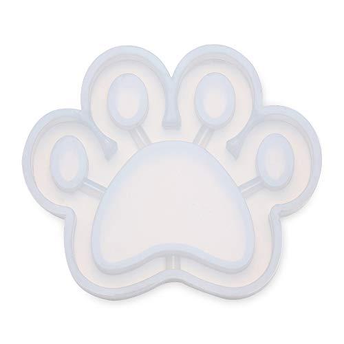dressplus Colgante de mariposa de cristal epoxi UV para llavero, molde de resina para colgar etiquetas de arena movediza, molde de silicona (pata de gato)