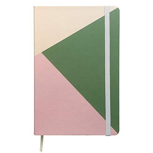 Caderneta 13x20 Cores (verde e rosa) - Pontilhada - Guio Art - Bullet Journal | Caderno pontilhado