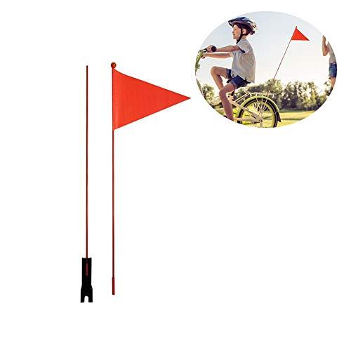 likeitwell Sicherheitswimpel Teilbar 180 cm Fahne Kinderfahrrad Kinder Fahrradwimpel Wimpel- Mädchen Sicherheitswimpel Prinzessinnen (Fahrradfahne) (Rot, 120 cm)