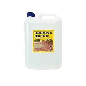 Detergente desincrustante acido limpiador de ceramica, granito, piedra natural etc. Elimina tambien restos de cemento. Envase 5 litros.